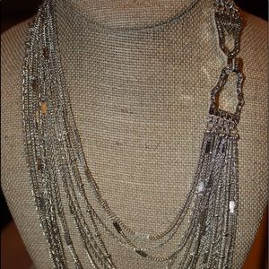 Mulit-Strand Chain Bib Necklace